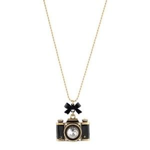NWT - Betsey Johnson Camera Necklace and earrings
